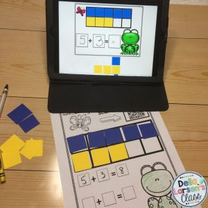 math center-flipped lessons-addition
