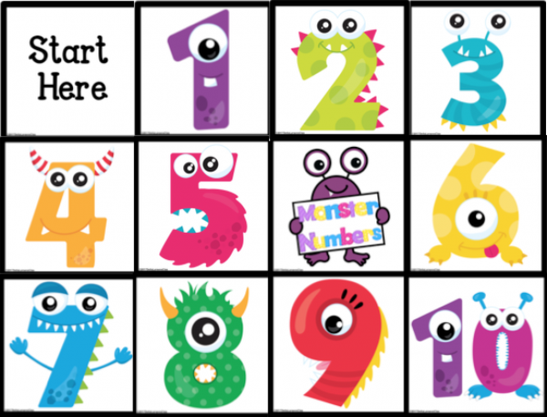 BeeBot monster numbers Mat