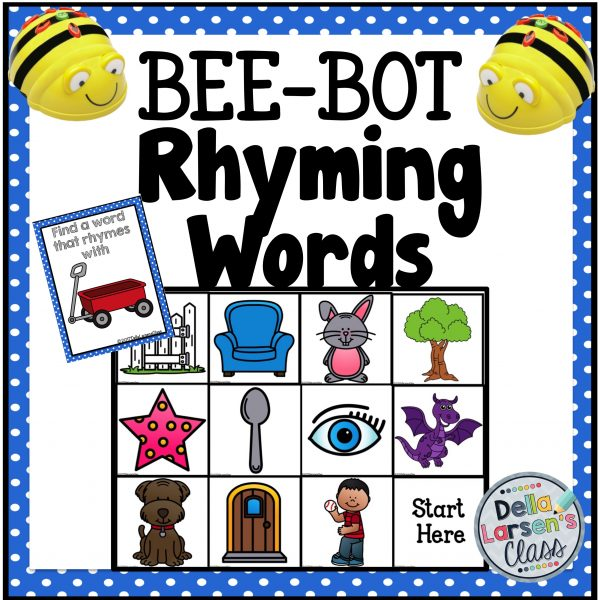 Bee Bot Rhyming Words Mat
