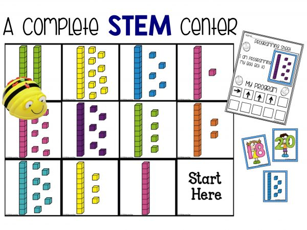 BeeBot tens and ones stem center