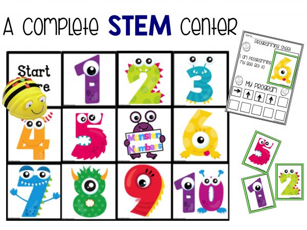 BeeBot Monster Number Stem Center