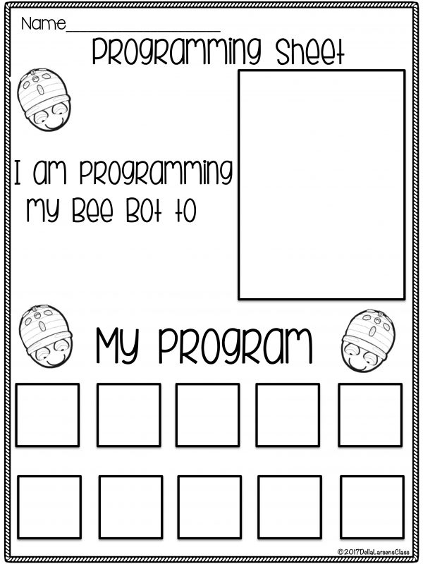 BeeBot programming Sheet