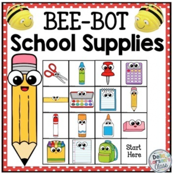 BeeBot school supplies cover