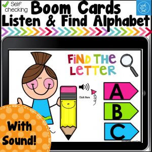BoomCards Listen and Find the Alphabet cover