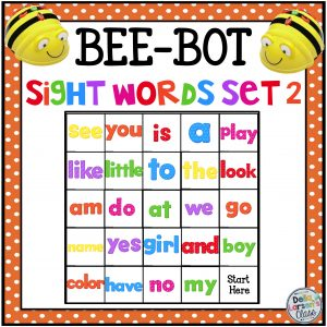 BeeBot sight words mat #2