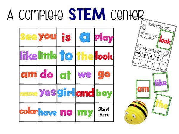 BeeBot mat sight word set 2 stem center