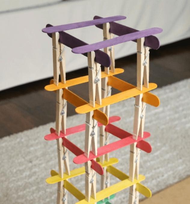 clothespin stem