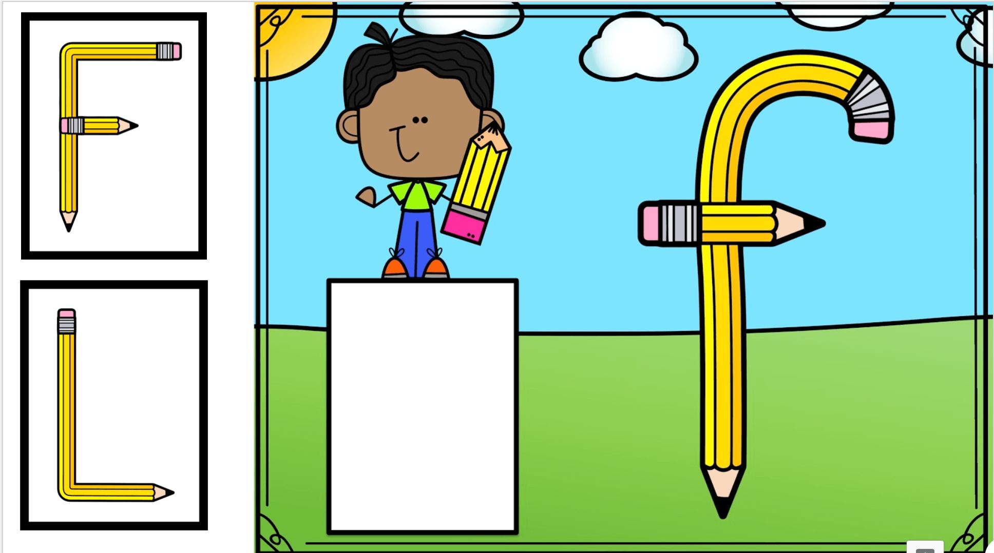 Google Classroom for kindergarten letter matching