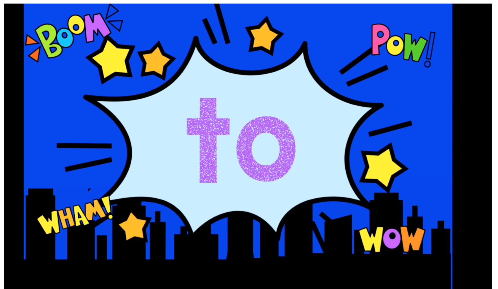 Boom Cards Superhero video for sight words